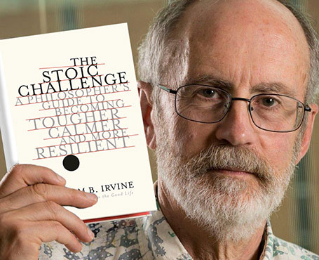 ویلیام اروین [William Braxton Irvine] فیلسوف در کتاب «چالش رواقی» [The stoic challenge : a philosopher's guide to becoming tougher, calmer, and more resilient]